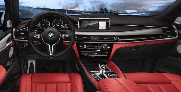 interior-bmw-x5-m BMW X5 M - Preço, Ficha Técnica, Versões, Consumo 2019