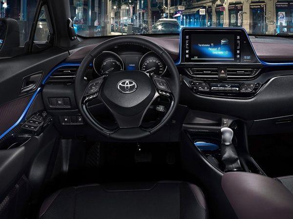 painel-toyota-c-hr Toyota C-HR - Preço, Ficha Técnica, Versões, Consumo 2019